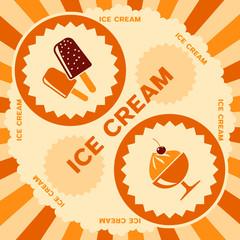 Ice cream label design. Vector illustration