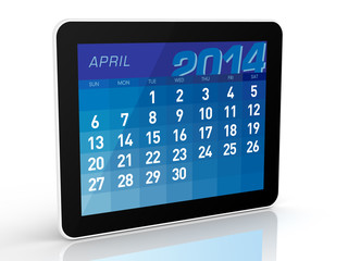 April 2014 - Tablet Calendar
