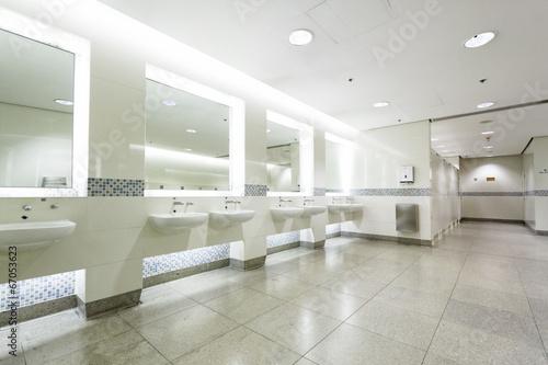 interior of private restroom - 67053623
