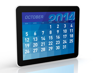 October 2014 - Tablet Calendar