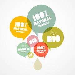 100 % BIO - Natural Transparent Vector Bubbles