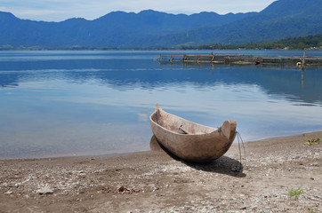 Fishing boat at Lake Maninjau (Danau Maninjau)