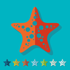 Flat design: starfish