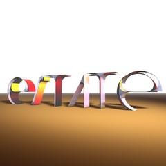 Estate, scritta in 3D su sabbia