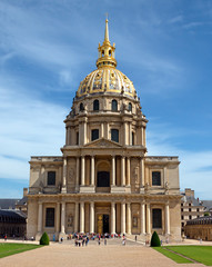 Paris - Les Invalides hospital and chapel dome