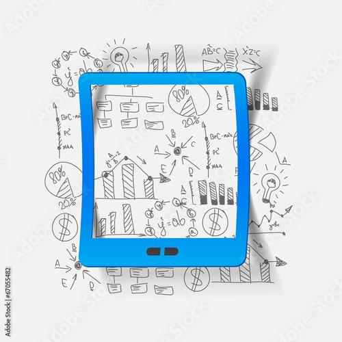Drawing business formulas: tablet