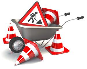 Vorsicht Bauarbeiten