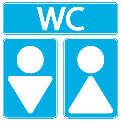 Male and female restroom symbol icons