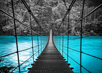 suspension bridge © Baranov