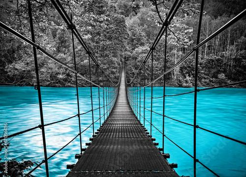 Zdjęcia na płótnie, fototapety na wymiar, obrazy na ścianę : suspension bridge