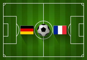 DEUTSCHLAND vs. FRANKREICH Fußball