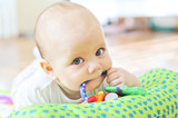 Fototapety baby with toy