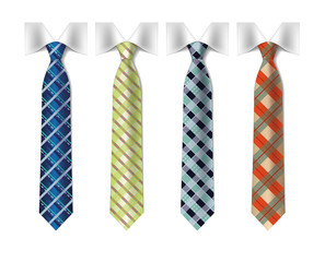 checkered silk ties templat