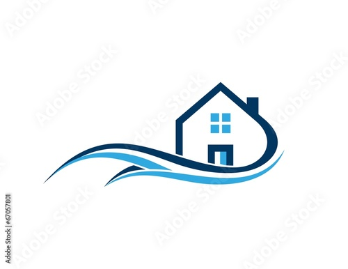 House real estate home architecture business logo for House design company