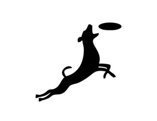 logo pet care, dog silhouette symbol,animal service