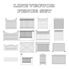 LINE VECTOR  FENCE  SET
