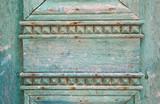 Holz Ornamente als in Türkis, Blau und Grün als Hintergrund