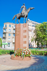 Monument to the defenders of Ukraine. Kozak on horseback