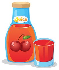 A bottle of cherry juice