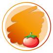 A round orange template