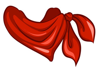 A red scarf