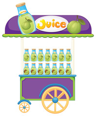 A guava fruit juice cart