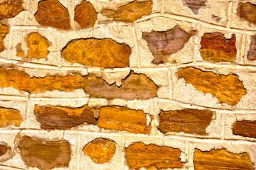 Puertollano, muro de mampostería, piedras, arquitectura