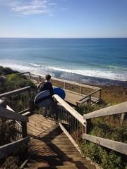 winter surfing in bells beach, OZ
