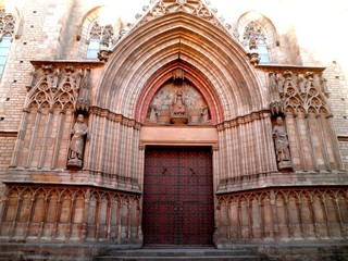 Barcelona Cathedral Door Entrance