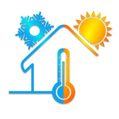 climatisation vecteur logo