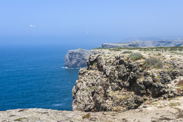 Cliffs in Sagres, South of Portugal