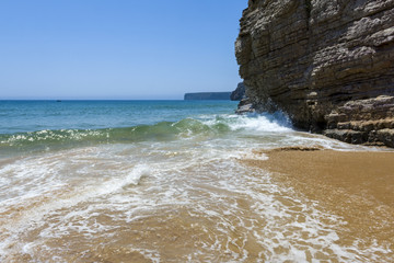 Cliff in the Beliche beach, Sagres, Portugal