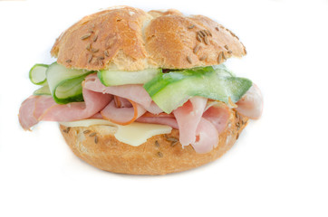 Sandwitch with prag ham, cucumber