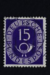 Posthorn_alte Deutsche Briefmarke 2