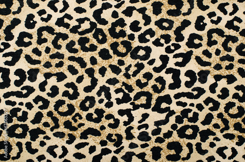 Brown and black leopard pattern.Animal print as background. - 67063227