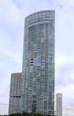 Very tall condominium in Bangkok, Thailand. It look modern