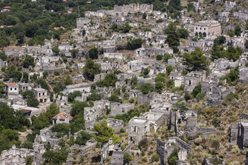 Kayakoy - abandoned Greek village in Turkey
