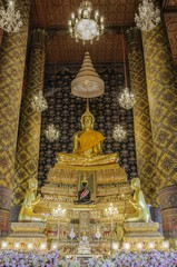 Buddha sculpture  that Taken at temple in Bangkok, Thailand