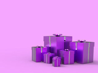 Copyspace Birthday Indicates Gift Box And Blank