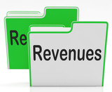 Revenues Files Indicates Profits Dividends And Paperwork poster