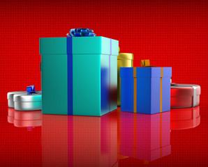 Celebration Giftbox Indicates Joy Giftboxes And Occasion