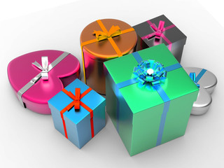 Giftbox Giftboxes Indicates Celebrate Celebration And Party
