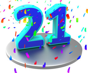 Twenty First Indicates Birthday Party And 21St