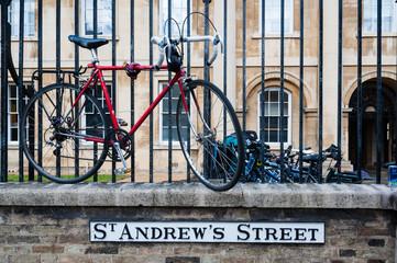 Sign for Cambridge St Andrews street, England, UK
