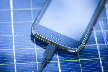 Mobile phone on solar charger