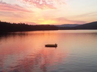 Sunset over Lake Kanasatka