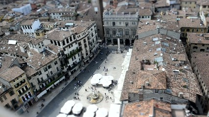 Piazza Erbe (Verona) Time Lapse Tilt Shift