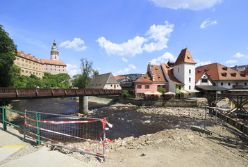 Beautiful summer landscape of the historical center of Cesky Kru