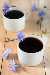 Chicory drink in two cups