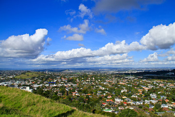 auckland town view from Mount Eden New Zealand  Mount Eden New Z
